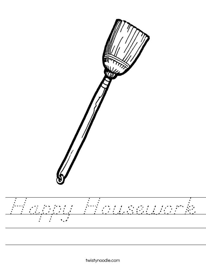 Happy Housework Worksheet