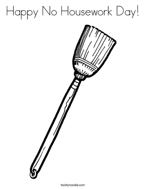 Broom Coloring Page
