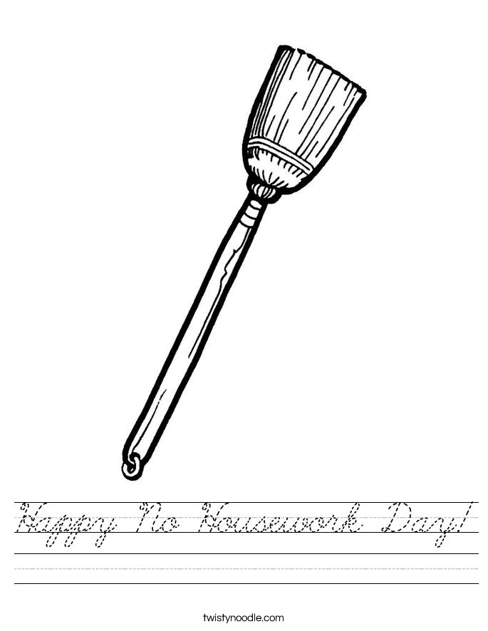 Happy No Housework Day! Worksheet