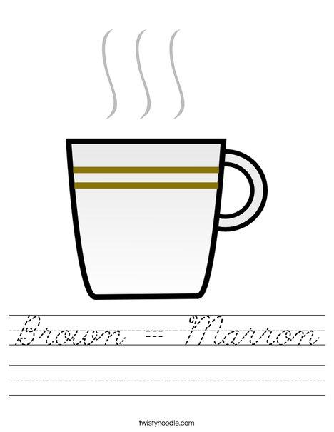Brown Coffee Worksheet