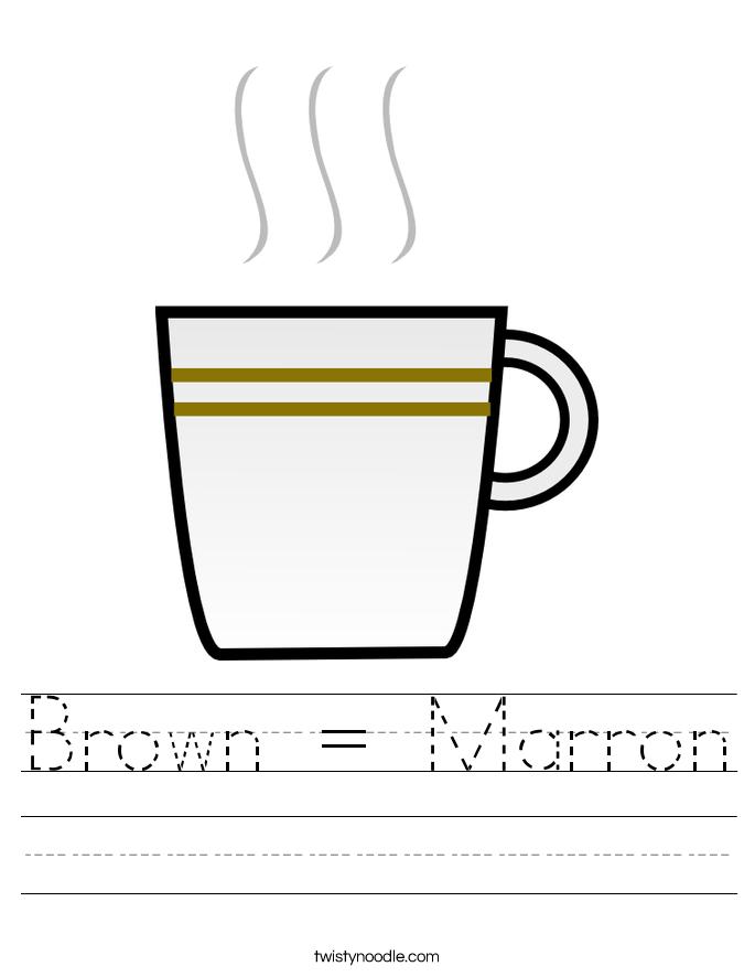 Brown = Marron Worksheet