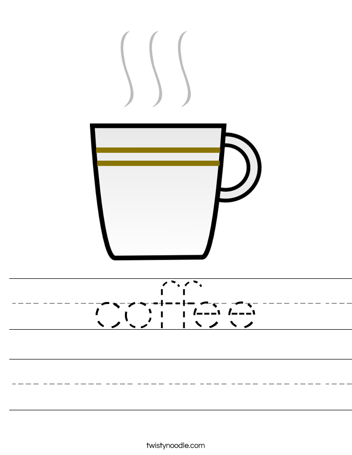 coffee Worksheet