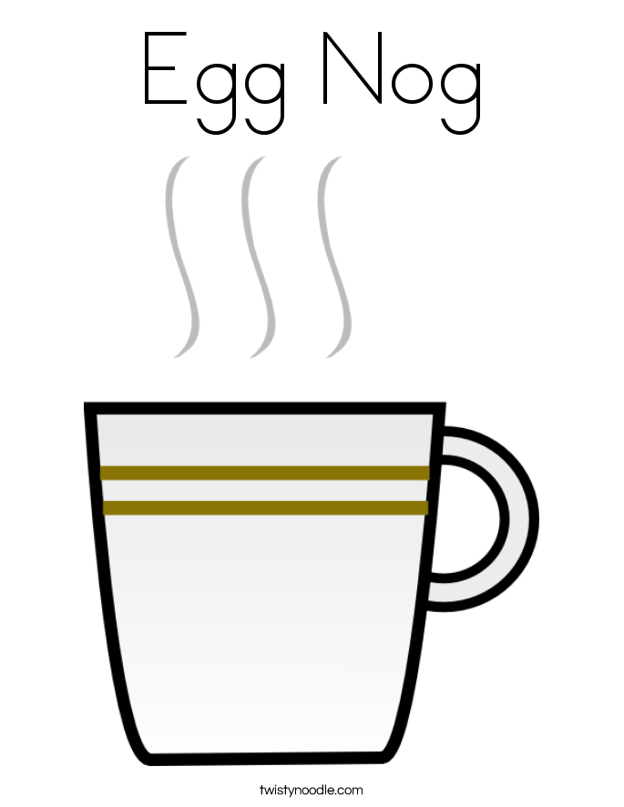 Egg Nog Coloring Page