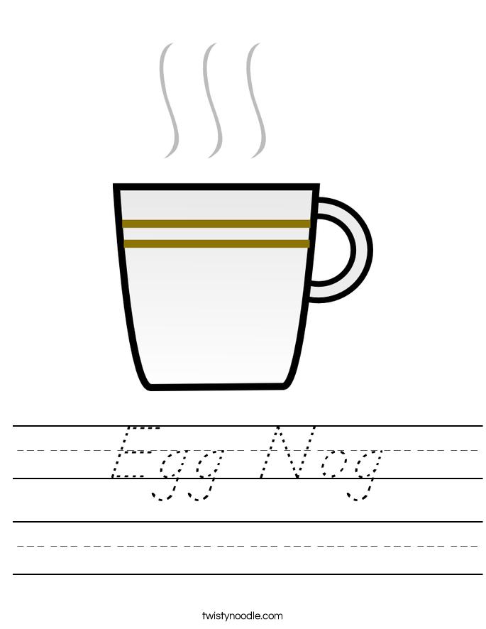 Egg Nog Worksheet