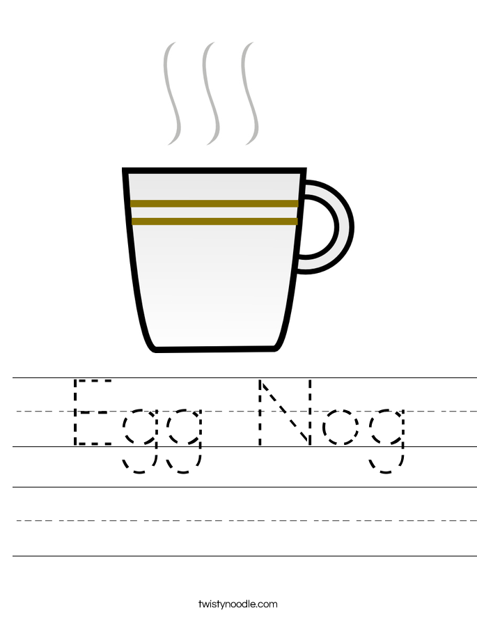 Egg Nog Worksheet