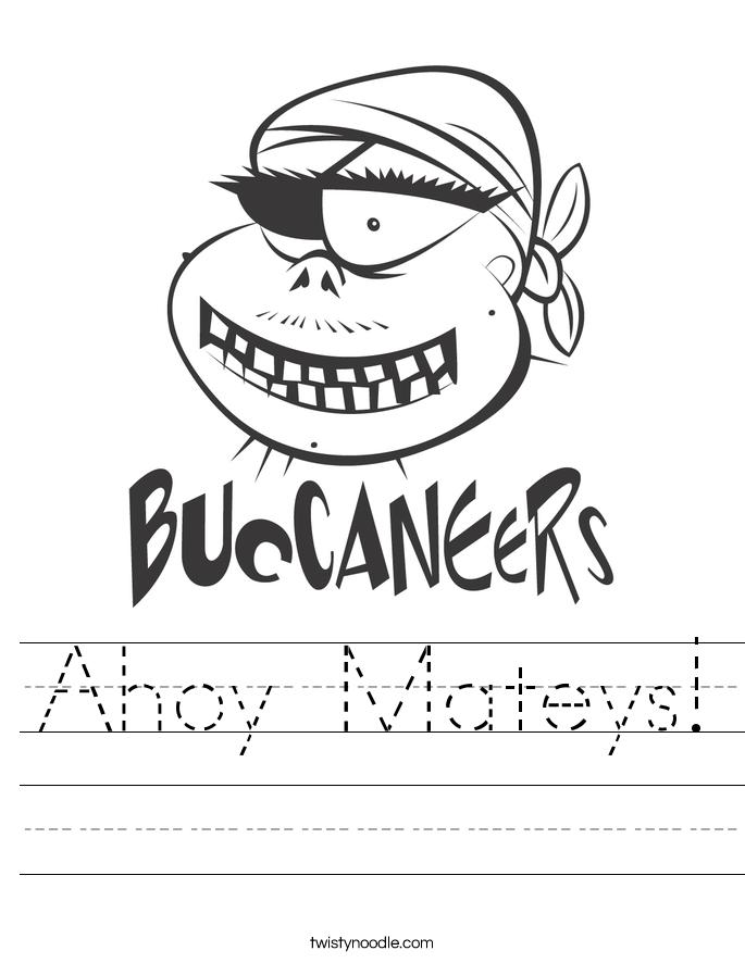 Ahoy Mateys! Worksheet