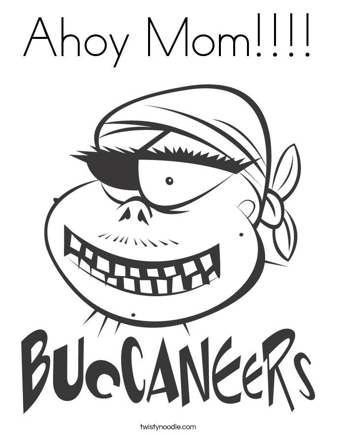 Ahoy Mom!!!! Coloring Page