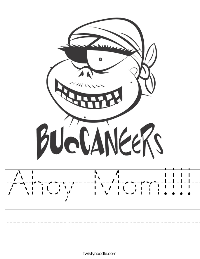 Ahoy Mom!!!! Worksheet