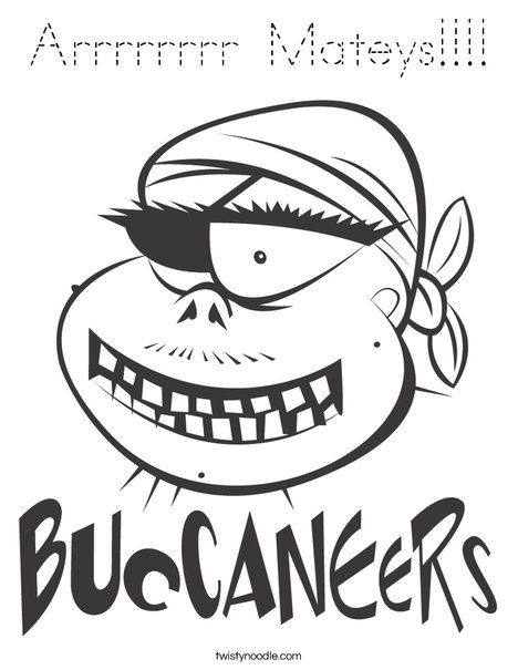 Buccaneers Pirate Coloring Page