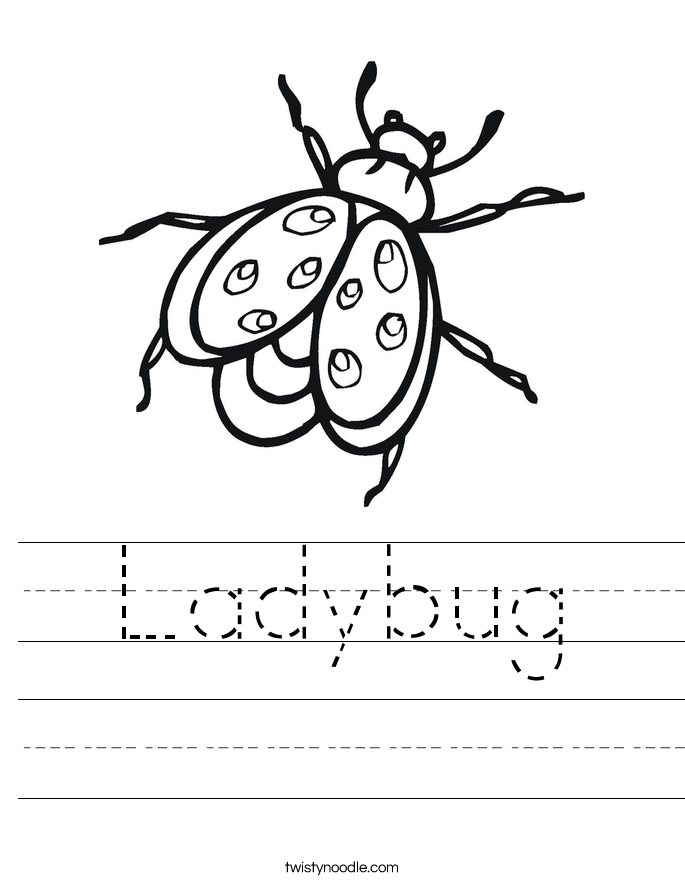ladybug coloring pages worksheets - photo#19