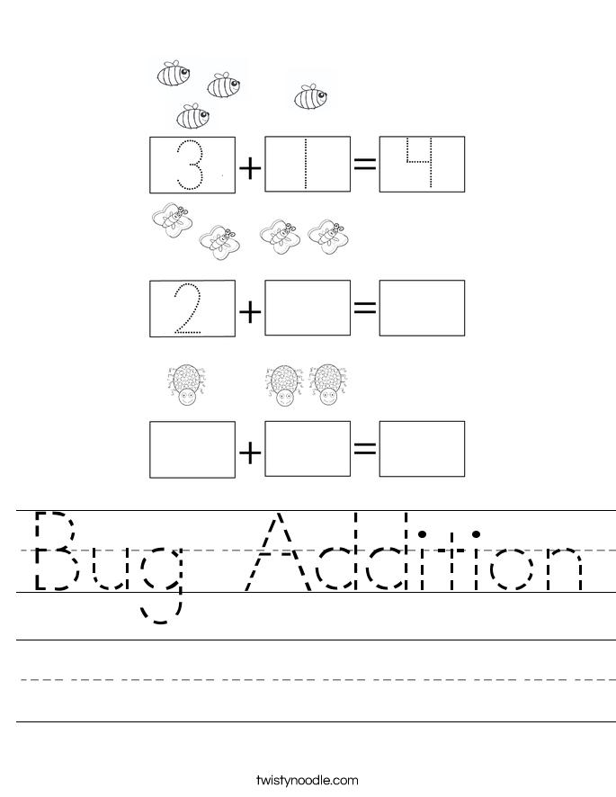 Bug Addition Worksheet