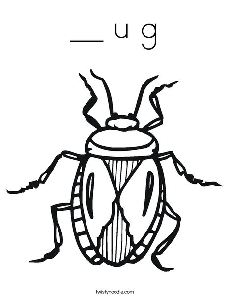 B is for Bug Coloring Page