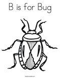 B is for BugColoring Page