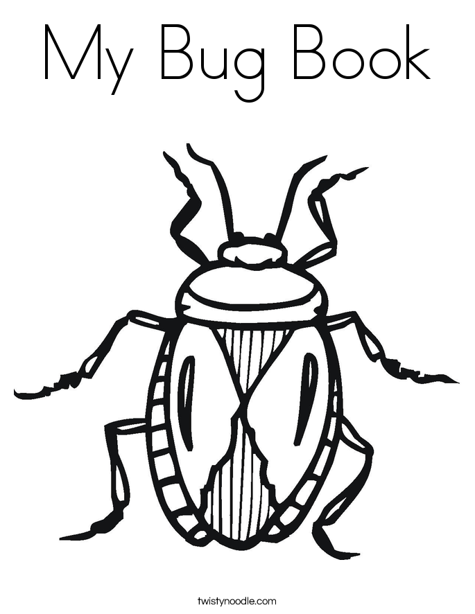 My Bug Book Coloring Page.