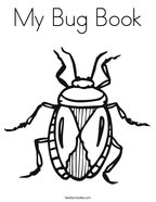 My Bug Book Coloring Page