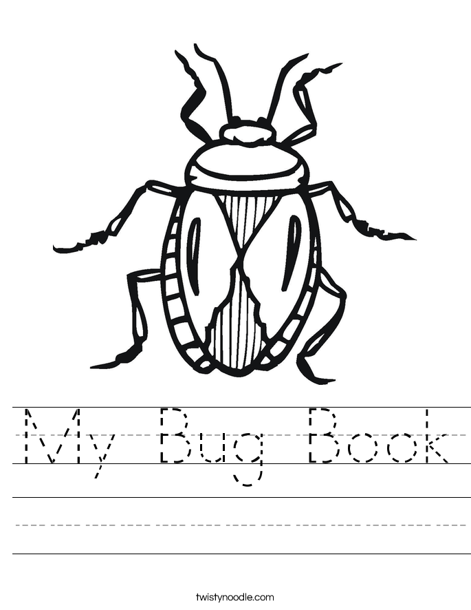 My Bug Book Worksheet