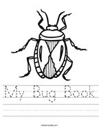 My Bug Book Handwriting Sheet