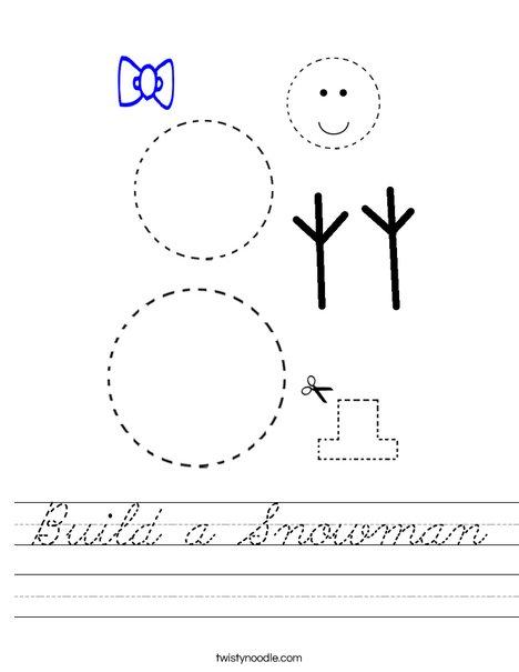 Build a Snowman Worksheet