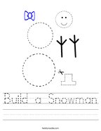 Build a Snowman Handwriting Sheet