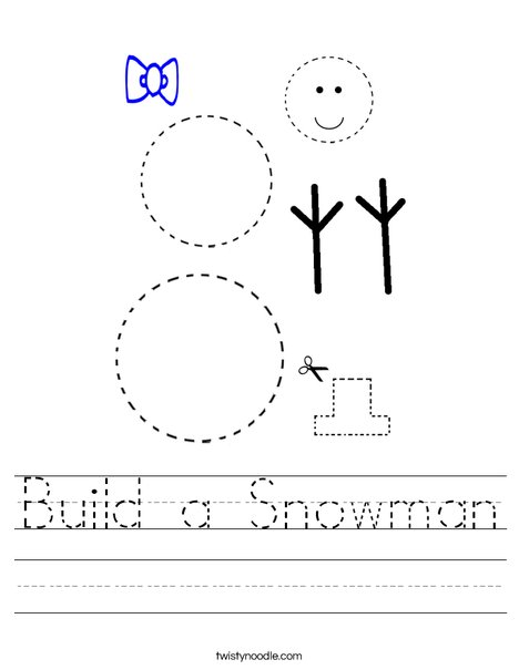 Build a Snowman Worksheet