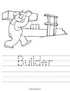 Builder Handwriting Sheet