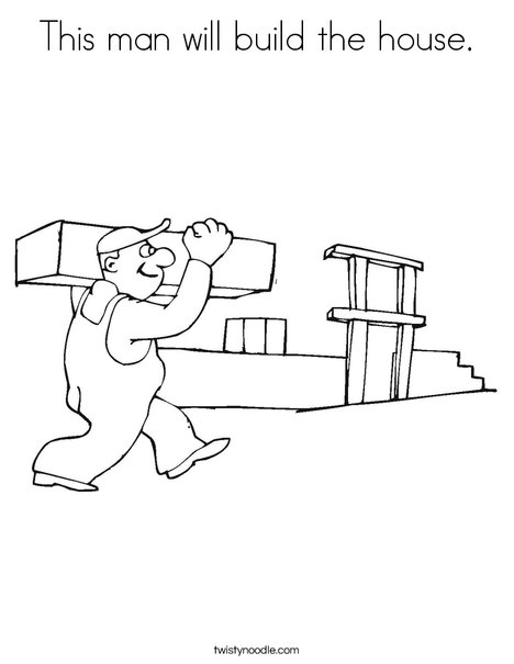 Builder Coloring Page