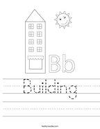Building Handwriting Sheet