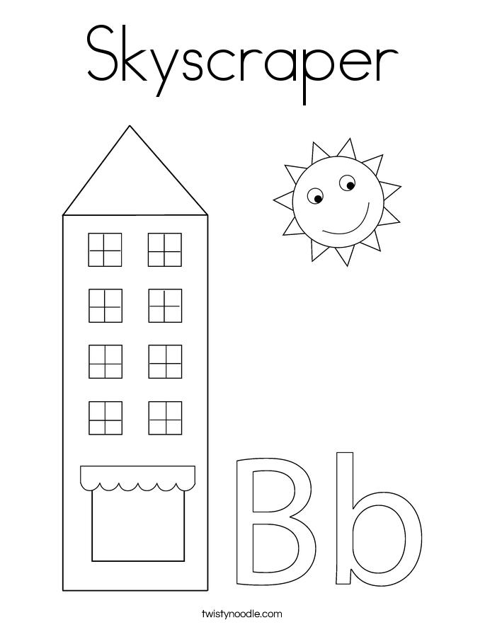 Skyscraper Coloring Page