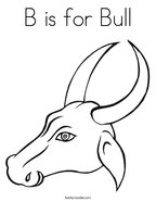 B is for Bull Coloring Page