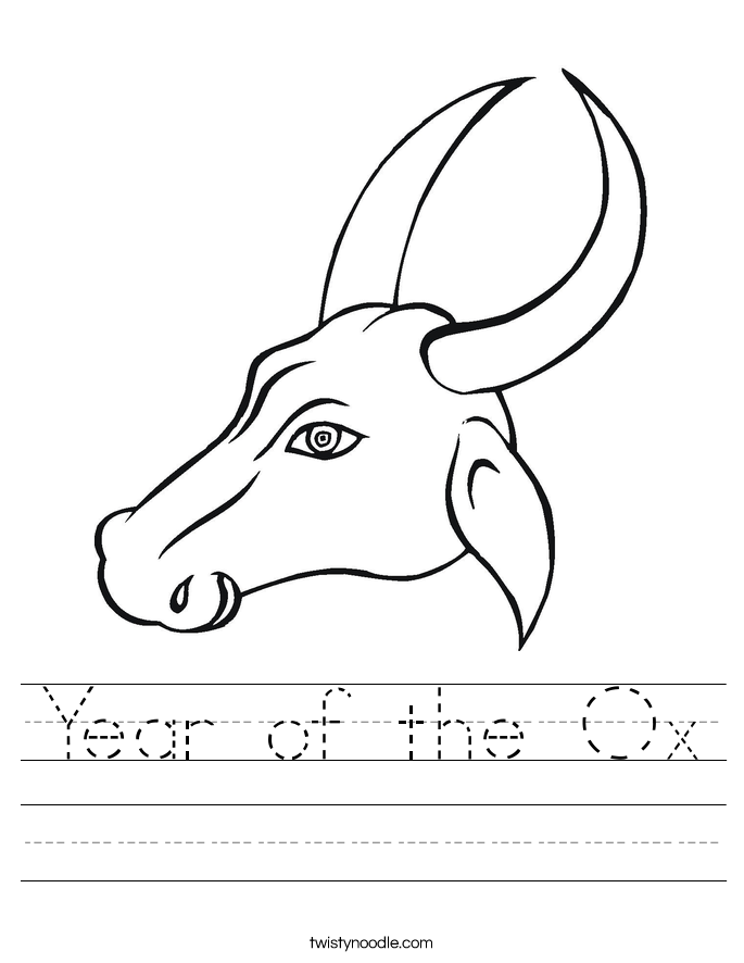 Year of the Ox Worksheet