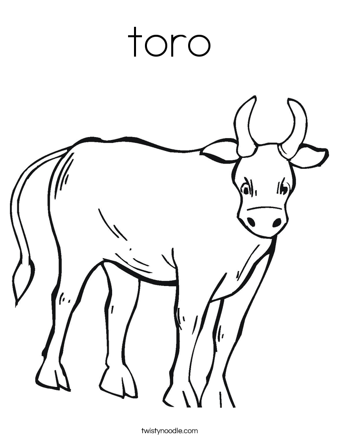 toro Coloring Page