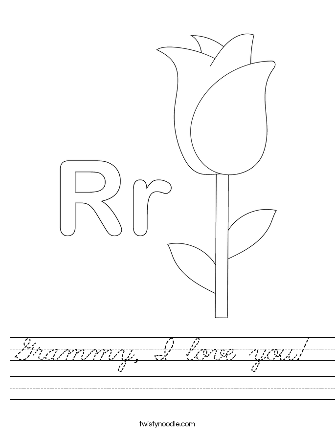 Grammy, I love you! Worksheet