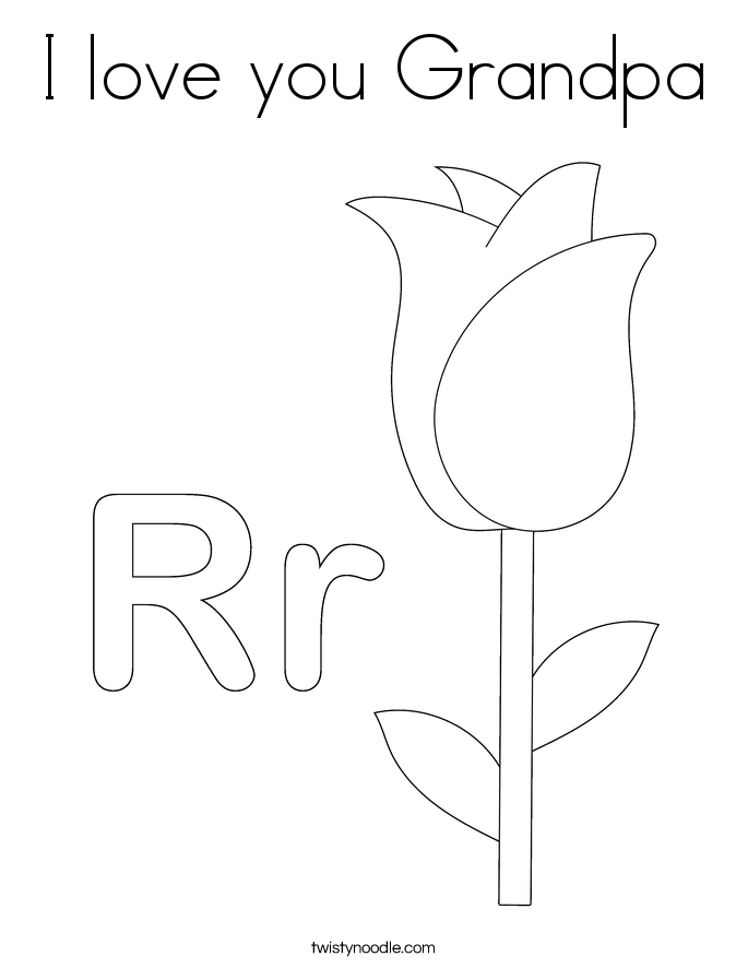 i love you grandpa coloring pages - photo #10
