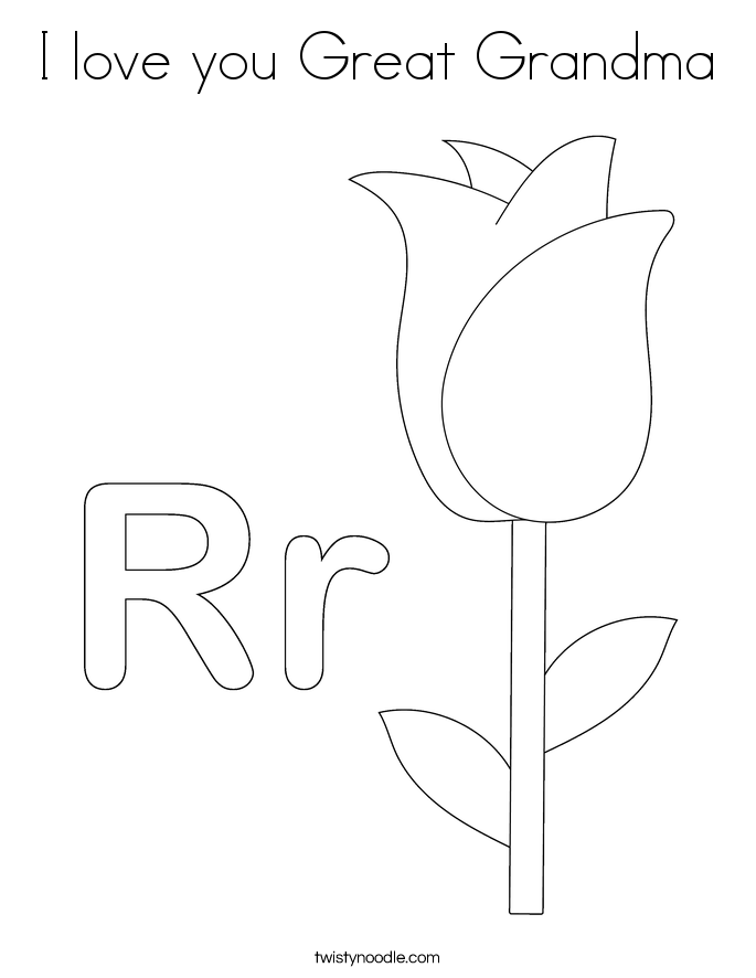 free grandma coloring pages - photo #18