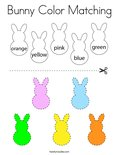 Bunny Color Matching Coloring Page