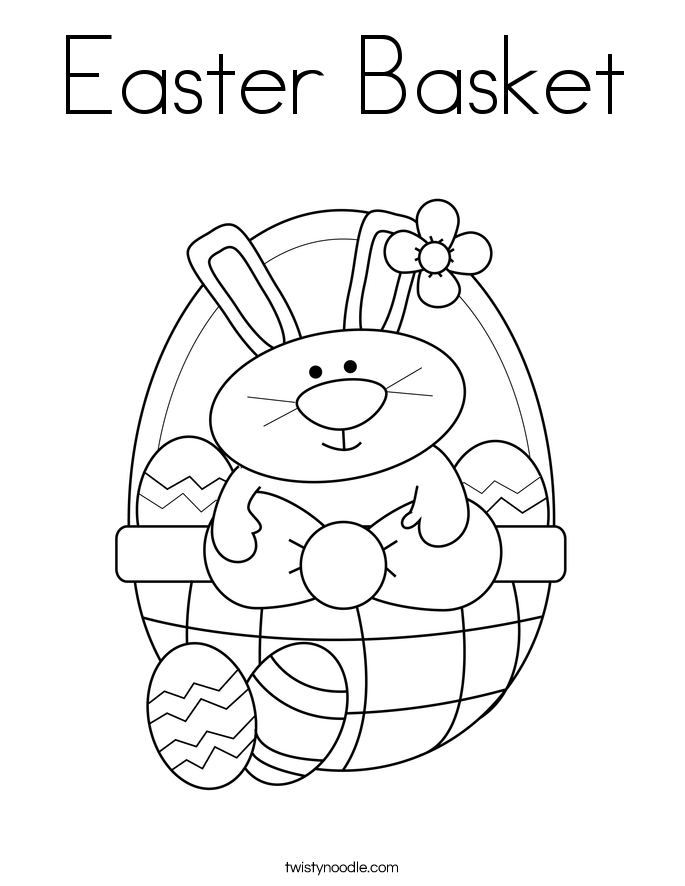 Easter basket coloring page twisty noodle Easter Basket Cookies Easter Basket Coloring Page Zentangle Cross Coloring Page