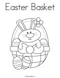 Easter BasketColoring Page