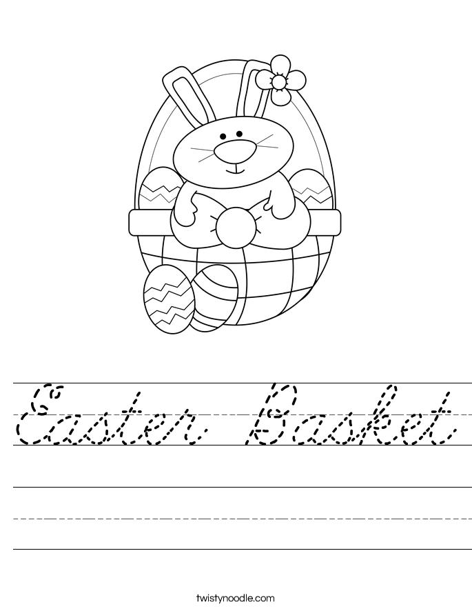 Easter Basket Worksheet