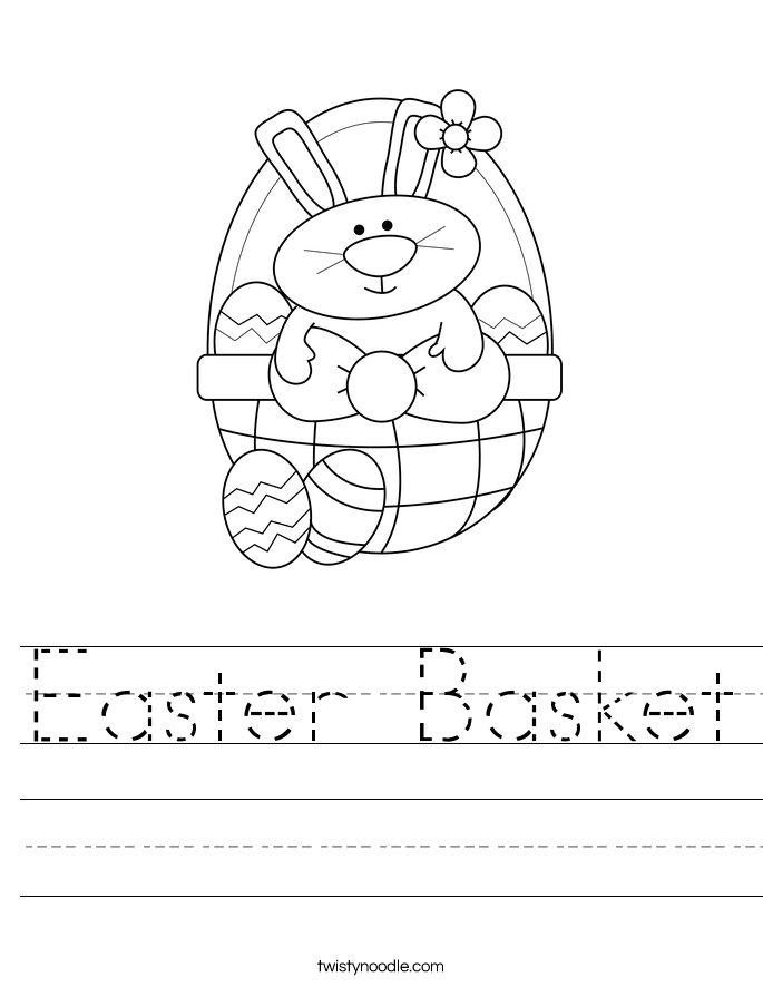 Easter Basket Worksheet