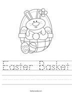 Easter Basket Handwriting Sheet