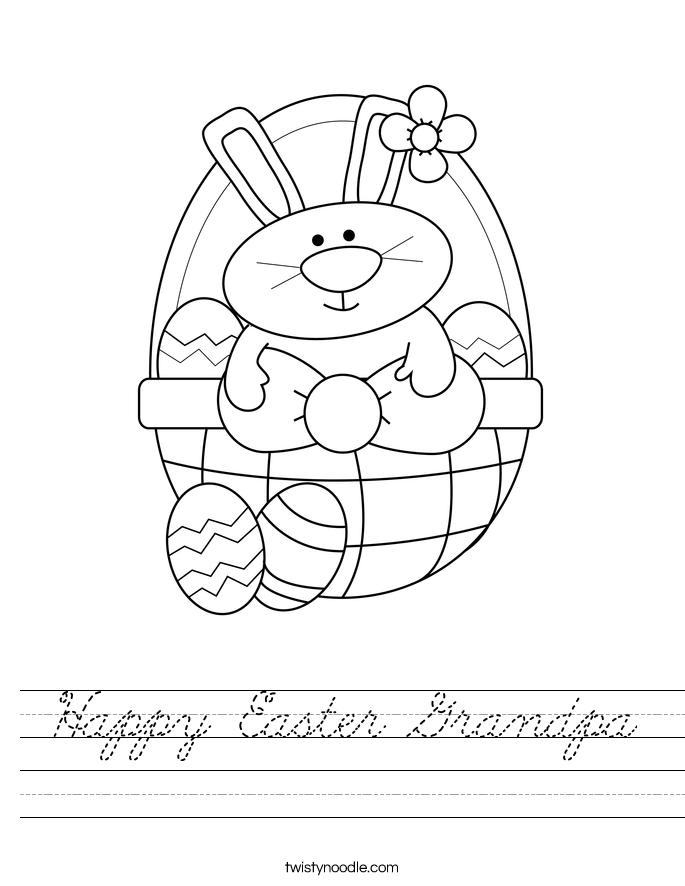 Happy Easter Grandpa Worksheet