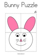 Bunny Puzzle Coloring Page