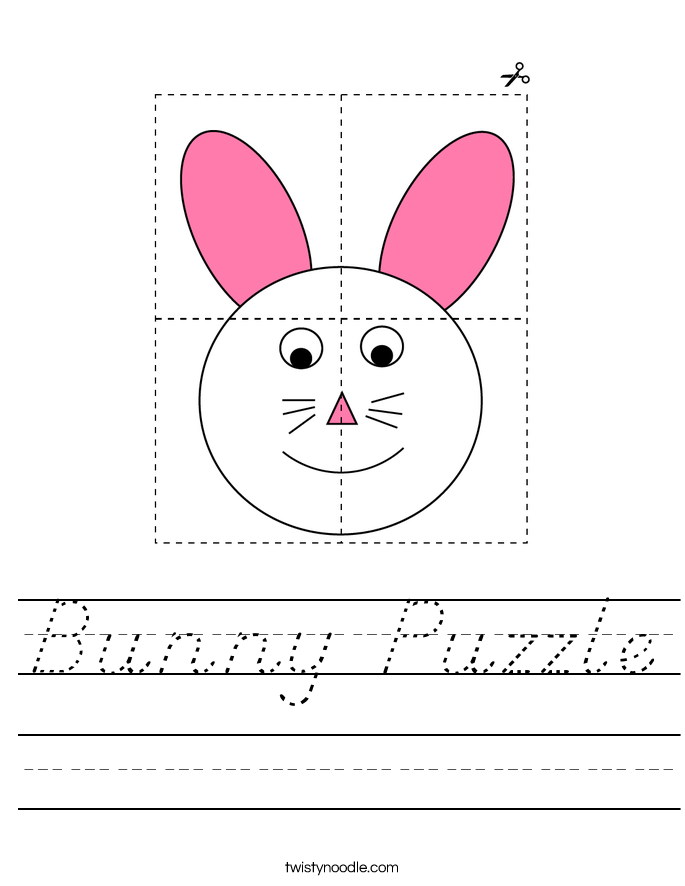 Bunny Puzzle Worksheet