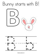Bunny starts with B Coloring Page