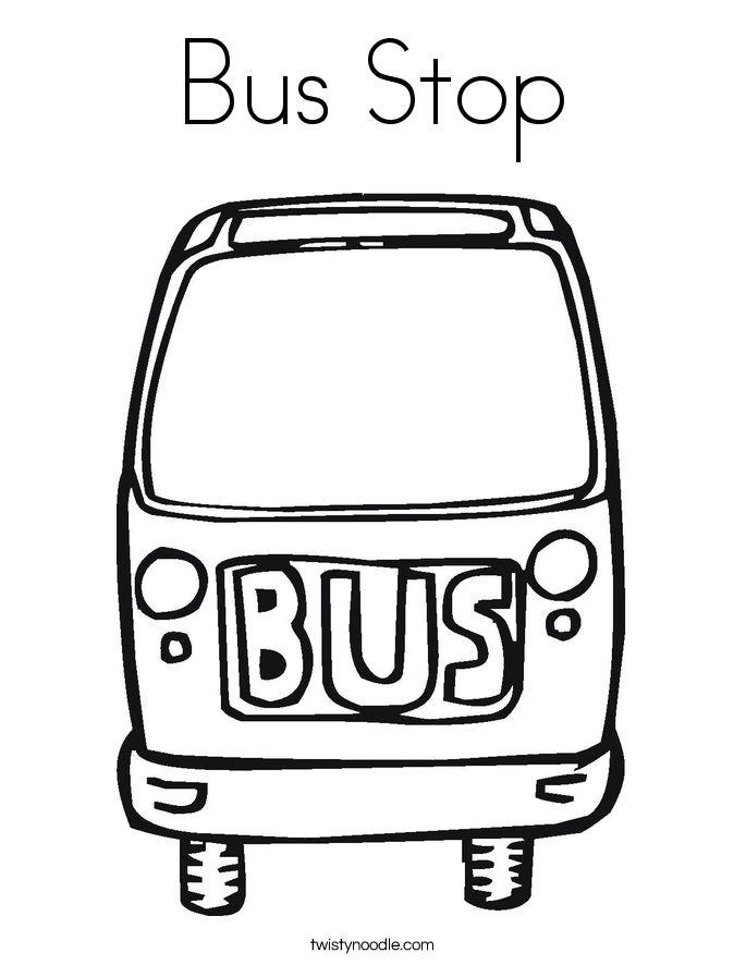 Bus Stop Coloring Page