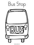 Bus StopColoring Page