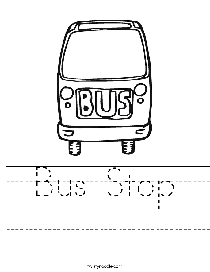 Bus Stop Worksheet
