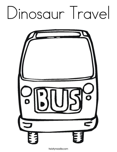 Bus Coloring Page