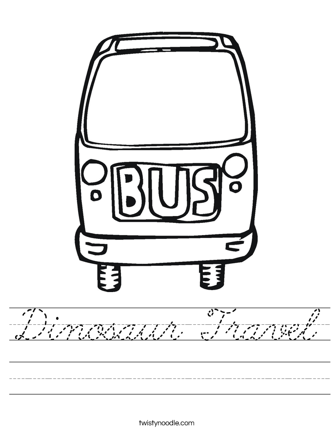Dinosaur Travel Worksheet