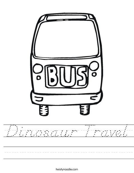 Bus Worksheet